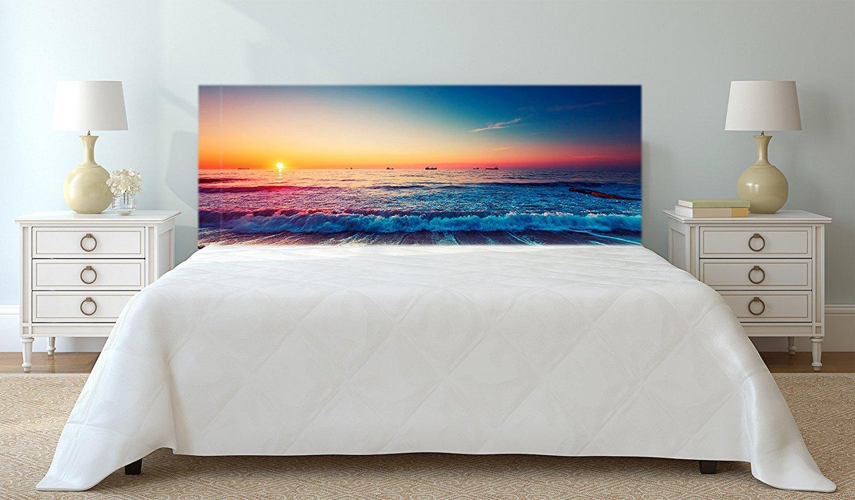 Amazon.de: Kopfteil Bett PVC Digitaldruck Strand und Welle ...