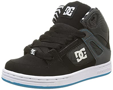 DC Rebound KB, Boys' Sneakers, Black (Black/White/Blue)