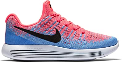 bb9d423fa844 Nike Women Lunarepic Low Flyknit 2 Running hot Punch Black-Aluminum-University  Blue Size 5. 5 US  Buy Online at Low Prices in India - Amazon.in