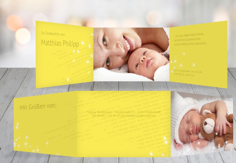Kartenparadies Danksagung für Geburt Baby Baby Baby Dankeskarte Star, hochwertige Danksagungskarte Baby inklusive Umschläge   10 Karten - (Format  148x105 mm) Farbe  RosaRosa B01N28A5AB | Optimaler Preis  | Moderner Modus  | Wirtschaftlich und praktisch bf1dcd