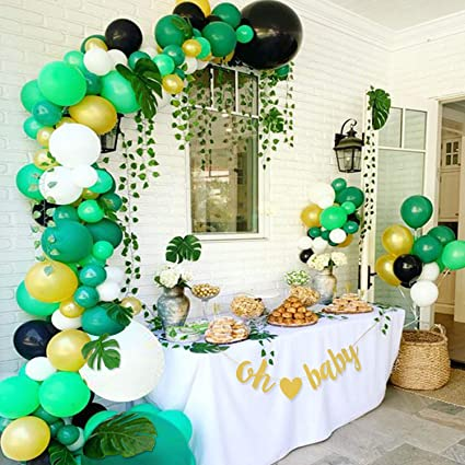 Balloon Arch /& Garland Kit for Boy Girl Birthday Party Baby Shower Background