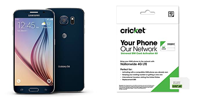 Galaxy S6 Black Sapphire 32gb For Cricket Wireless