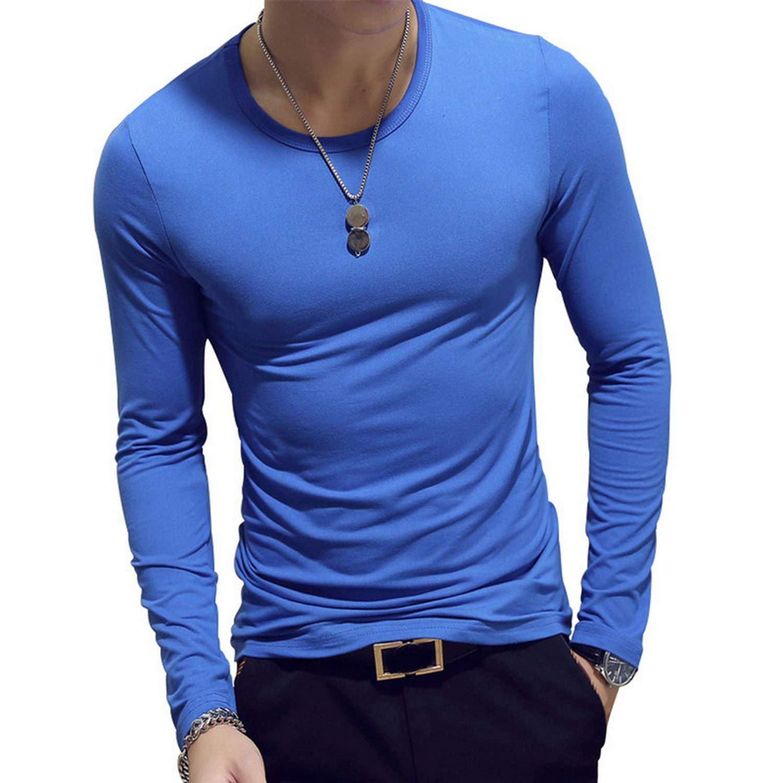 Clustor Long Sleeve Fashion O-Neck Slim Fit Casual Clothing