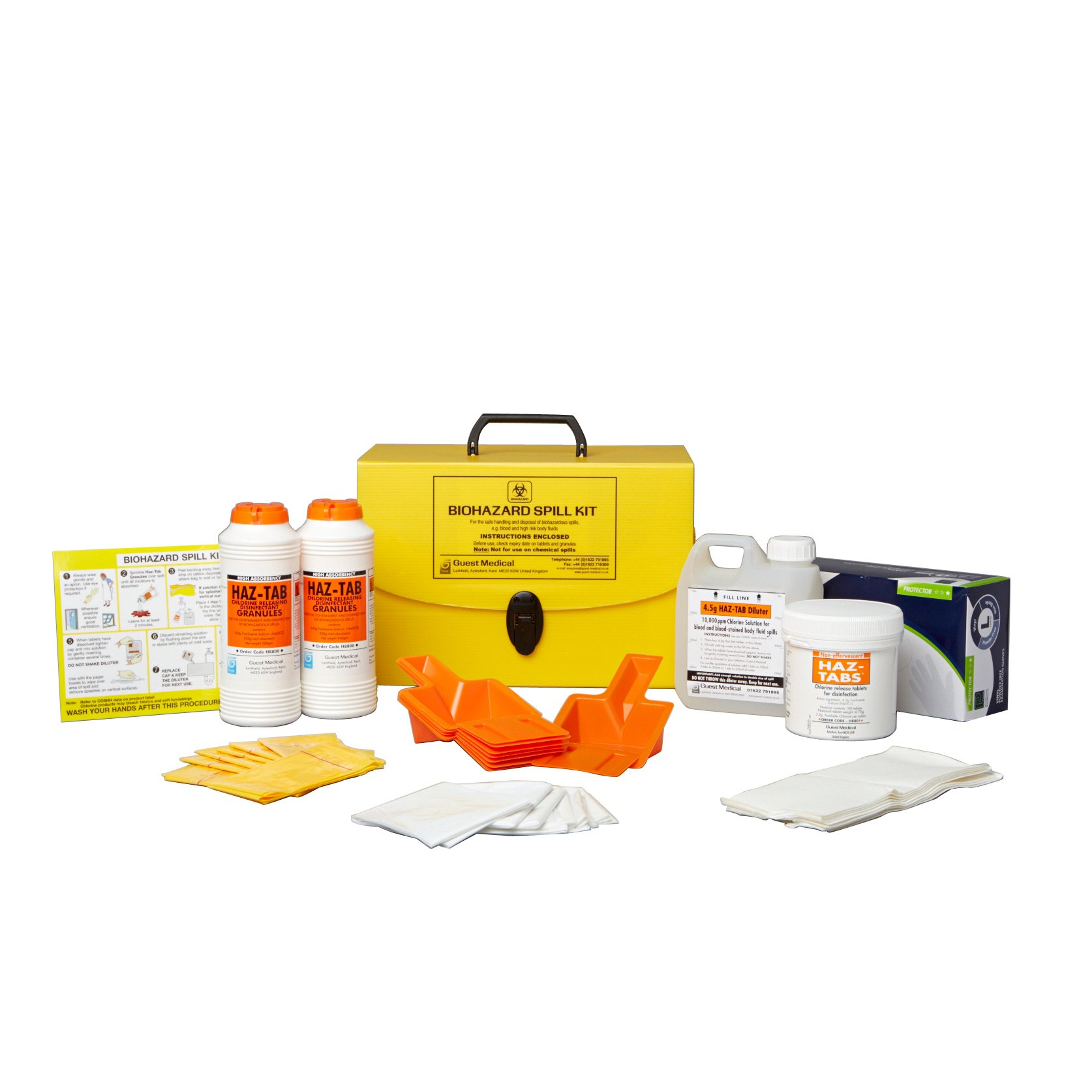 Medegen Medical Products 2036 Bio-Hazard Spill Kits (Pack of 72)