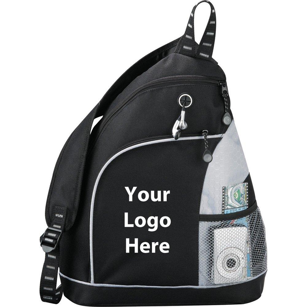 ツイスタースリングバックパック – 48数量 – $ 9.20各 – プロモーション製品/バルク/ブランドロゴ/でカスタマイズされた  シルバー B01G6W8MUK