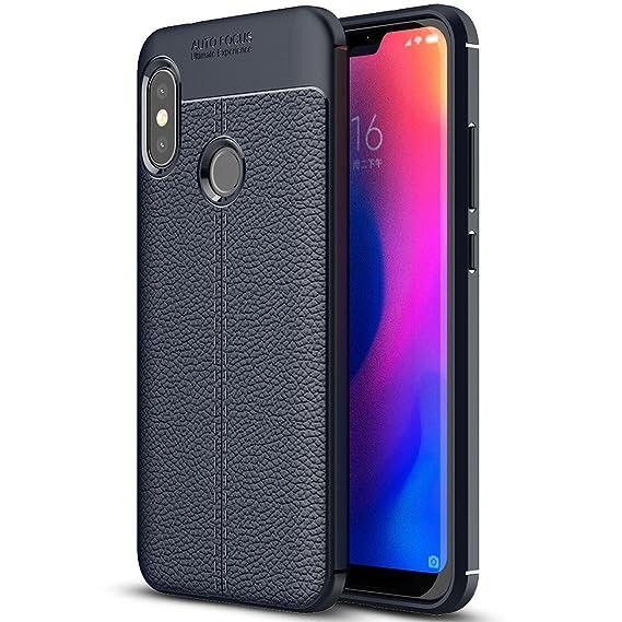 Xiaomi Mi A2 Lite Case, Xiaomi Mi A2 Lite Faux Leather Case, Soft Case  Anti-Slip TPU Cover for 5 84'' Xiaomi Mi A2 Lite
