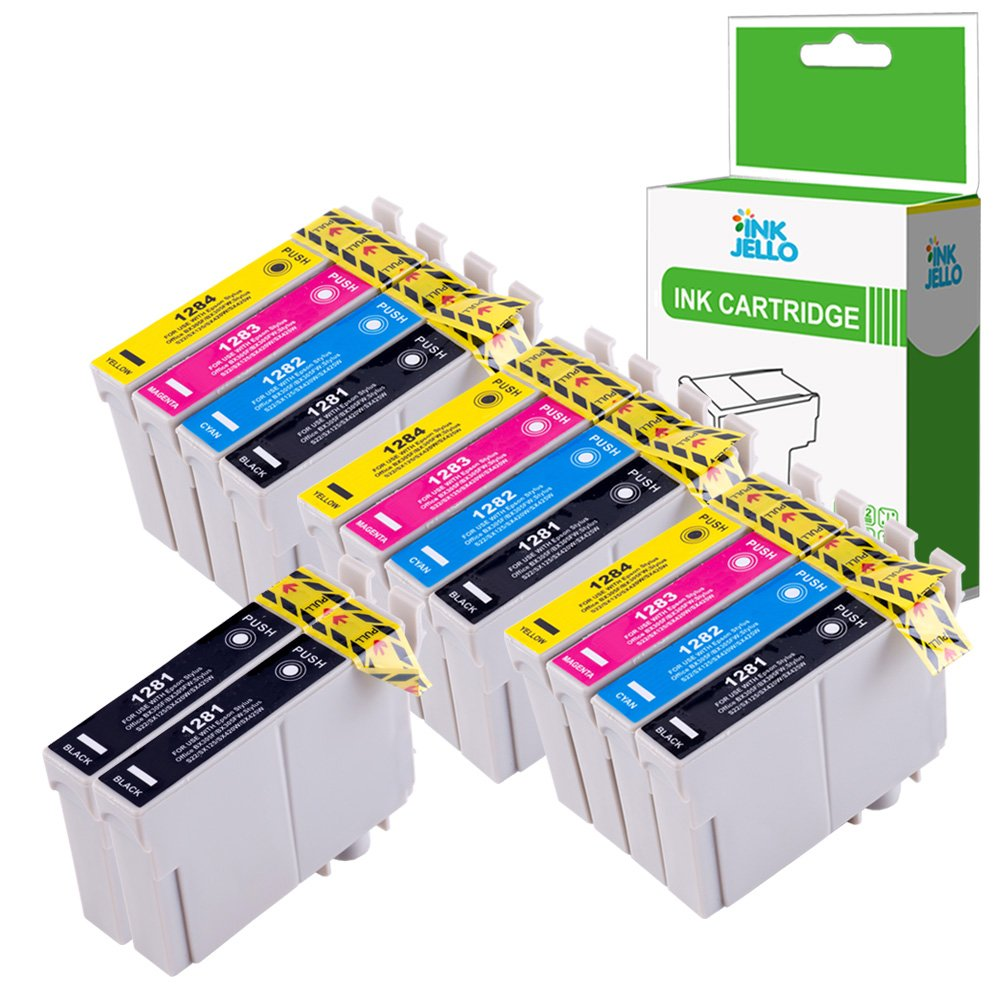 InkJello - Cartucho de tinta compatible con Epson Stylus Office BX305F BX305FW Plus Stylus S22 SX125 SX130 SX230 SX235W SX420W SX425W SX430W SX435W ...