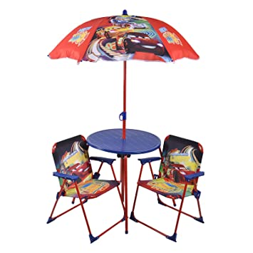 Cars Patio Set Childrenu0027s Garden Table Outdoor Chairs UV Umbrella Disney  Pixar Part 34