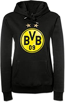 Borussia Dortmund BVB-Kapuzensweatjacke mit Logo L Schwarz