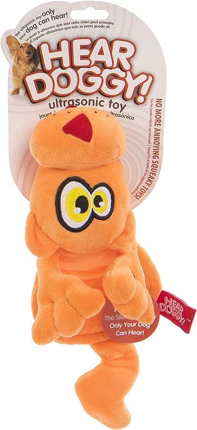 Hear Doggy Flattie Black Skunk Ultrasonic Silent Squeaker Dog Toy Gift New