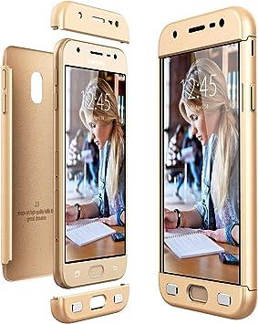 CE-Link Funda Samsung Galaxy J3 2017, Carcasa Fundas para Samsung Galaxy J3 2017, 3 en 1 Desmontable Ultra-Delgado Anti-Arañazos Case Protectora: Amazon.es: Electrónica