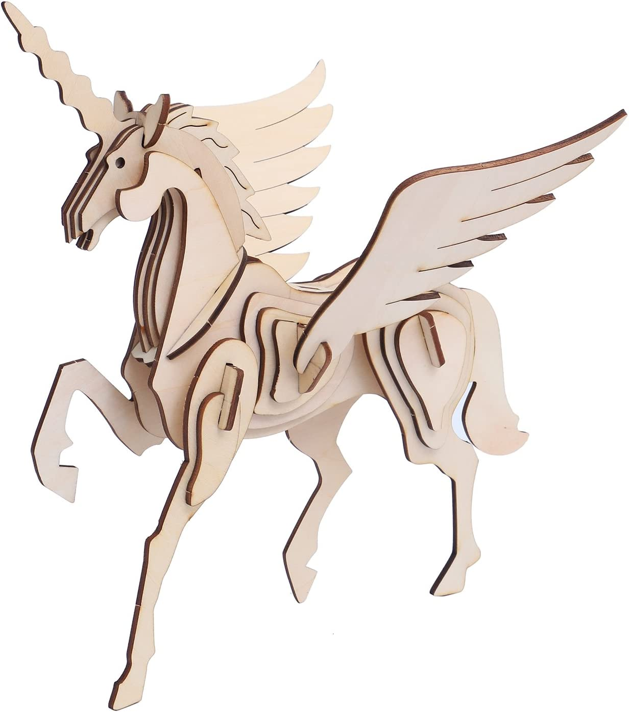 vigeiya unicorn puzzle 3d wooden jigsaw puzzle battle steed kids coloring toys adults collection decoration
