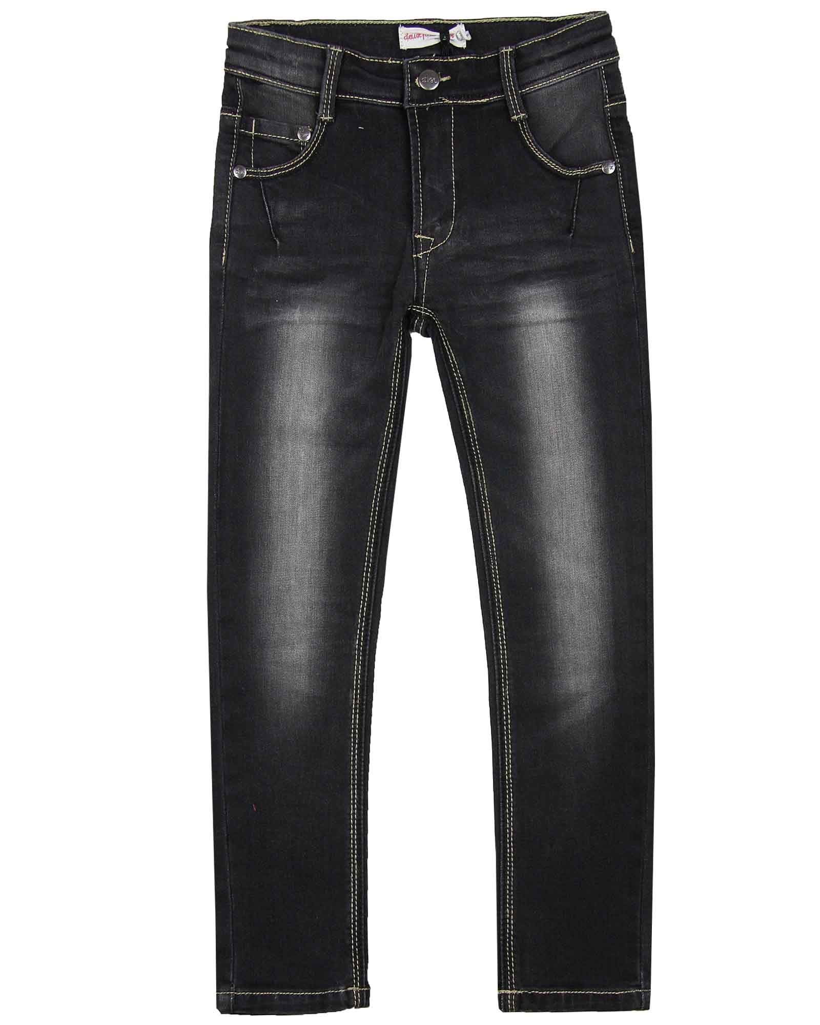 Deux par Deux Boys' Slim Fit Denim Pants in Black, Sizes 3-12 - 8