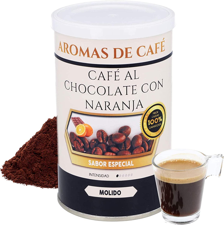 Café Molido 100% Arábica   Café Chocolate y Naranja   100 gr   Intensidad Suave   Sabor llamativo, Difícil de Olvidar   Café Molido Natural ...