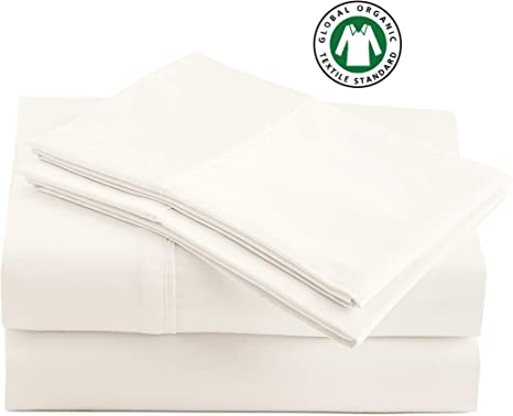 Double Size Set 100/% Organic Hypoallergenic Bedding Sheets with Queen and King and Twin and Double Size Sets for All Mattress and Bed Types Cotton Sheets Set by Casa Platino GOTS Certified
