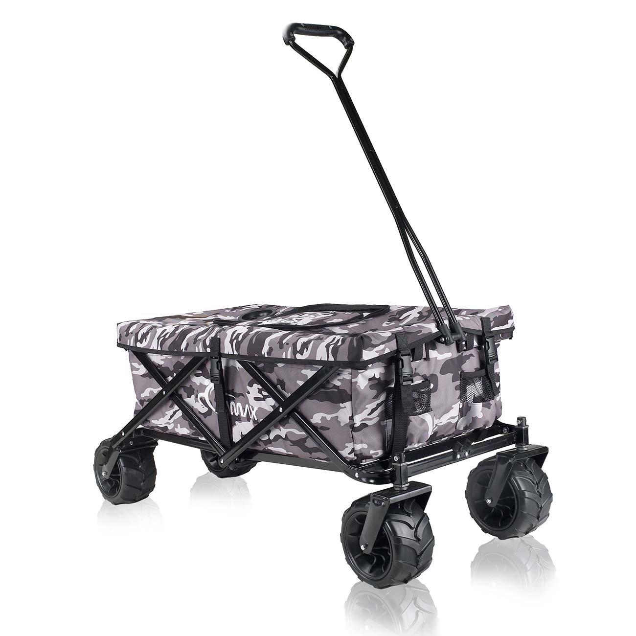 SAMAX Hand Cart Wagon Trolley Garten Cool Bag Coaster Wagen Foldable Camouflage