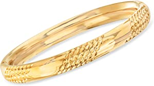 Ross-Simons Andiamo 14kt Yellow Gold Bangle Bracelet With Magnetic Clasp