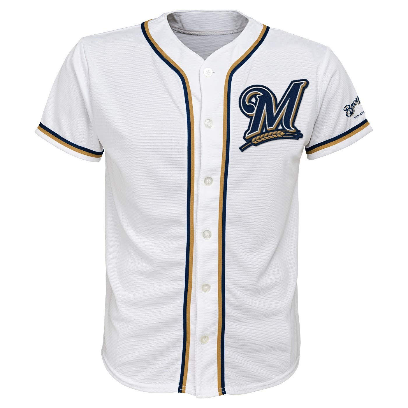 watch 9ed92 5e684 Amazon.com: Milwaukee Brewers White Youth Team Apparel Home ...