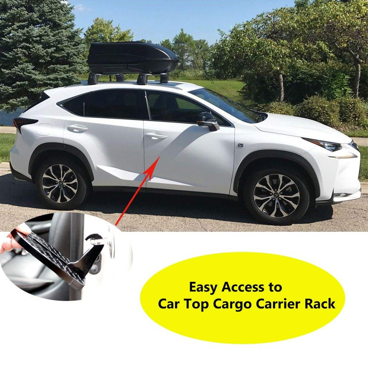 FitMaker Vehicle Hooked, U Shaped Vehicle Rooftop Doorstep with Saftey Hammer Function for Easy Access to Car Rooftop Roof-rack, Doorstep for various vehicles by FitMaker (Image #7)