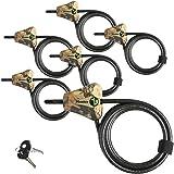 Master Lock Python Trail Camera Adjustable Camouflage Cable Locks 8418KA-6 CAMO 6-Pack