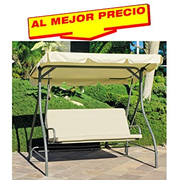 balancin de jardin ideal para su terraza o piscina modelo pompeya estructura de acero color - Balancin De Jardin