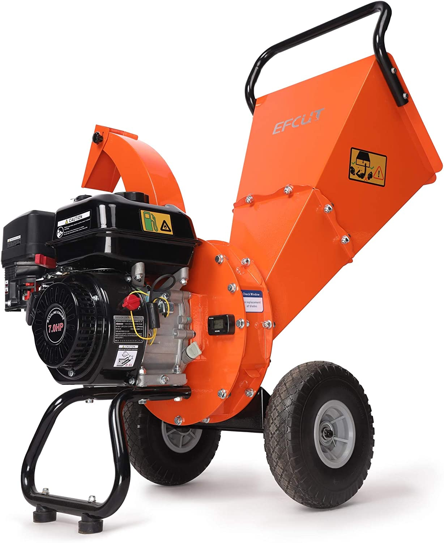 EFCUT C30 Mini Wood Chipper Shredder Mulcher, 7 HP 212cc Gasoline Engine, 3