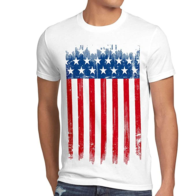 1aedec0946398d USA Flag T-Shirt Men National United States of America us Stars and  Stripes