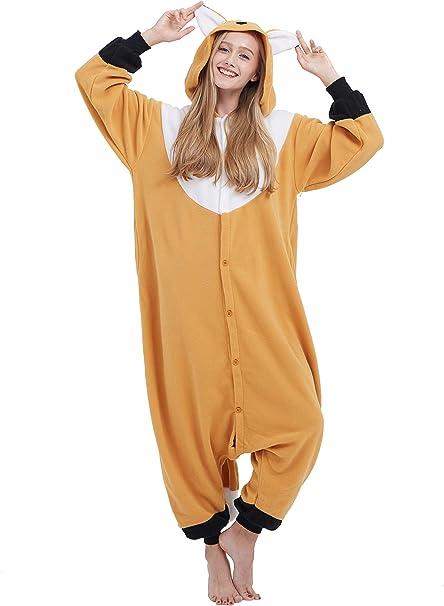 Fandecie Costume Animale Costume Animale Pigiama Pigiama Tuta Kigurumi Donna Uomo Cosplay Adulto per Carnevale Animale Halloween