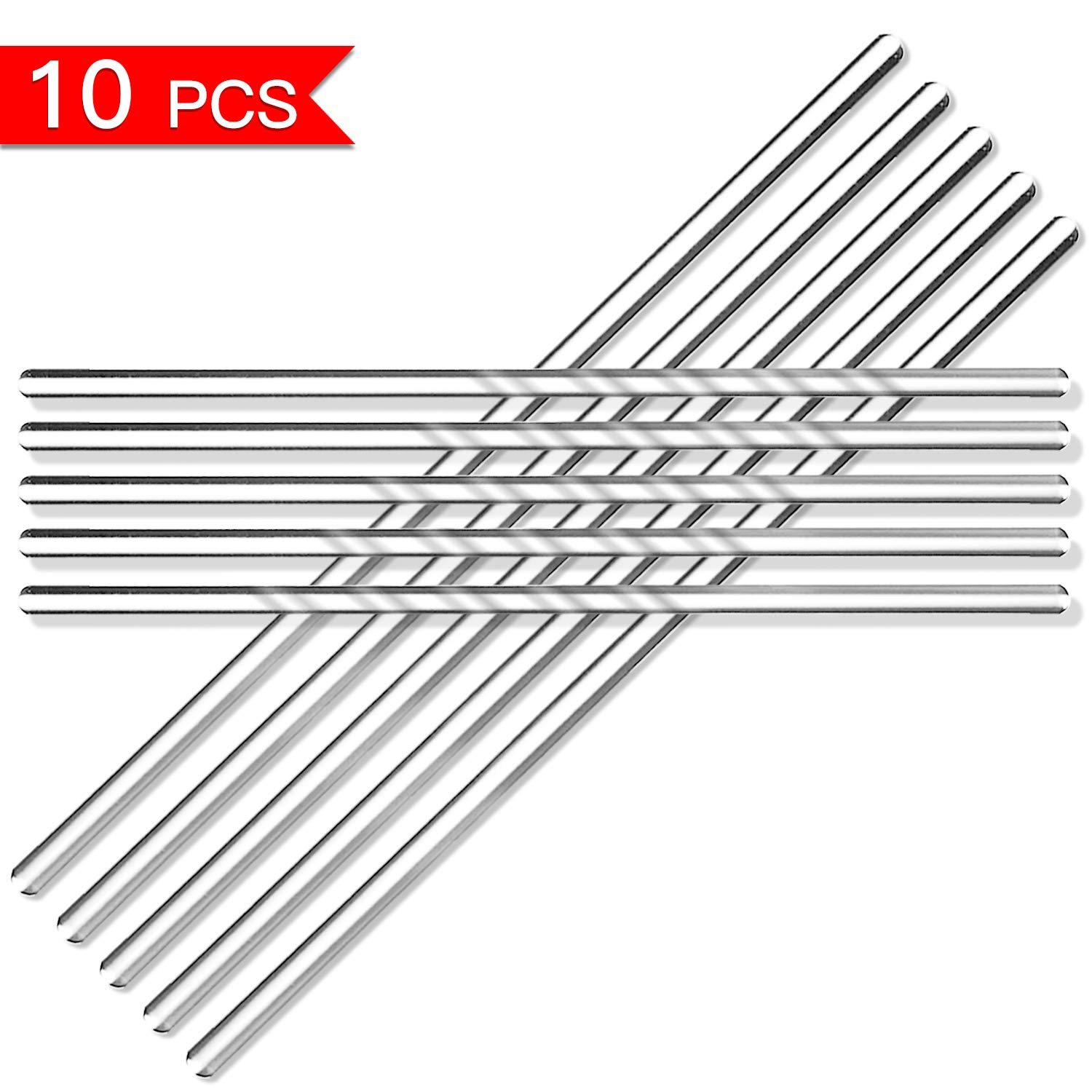 UKCOCO 10PCS Glass Rod Stirrer Glass Stir Sticks Stirring Rod for Hot Beverages Cold Beverages Cocktails Drinks Mixtures