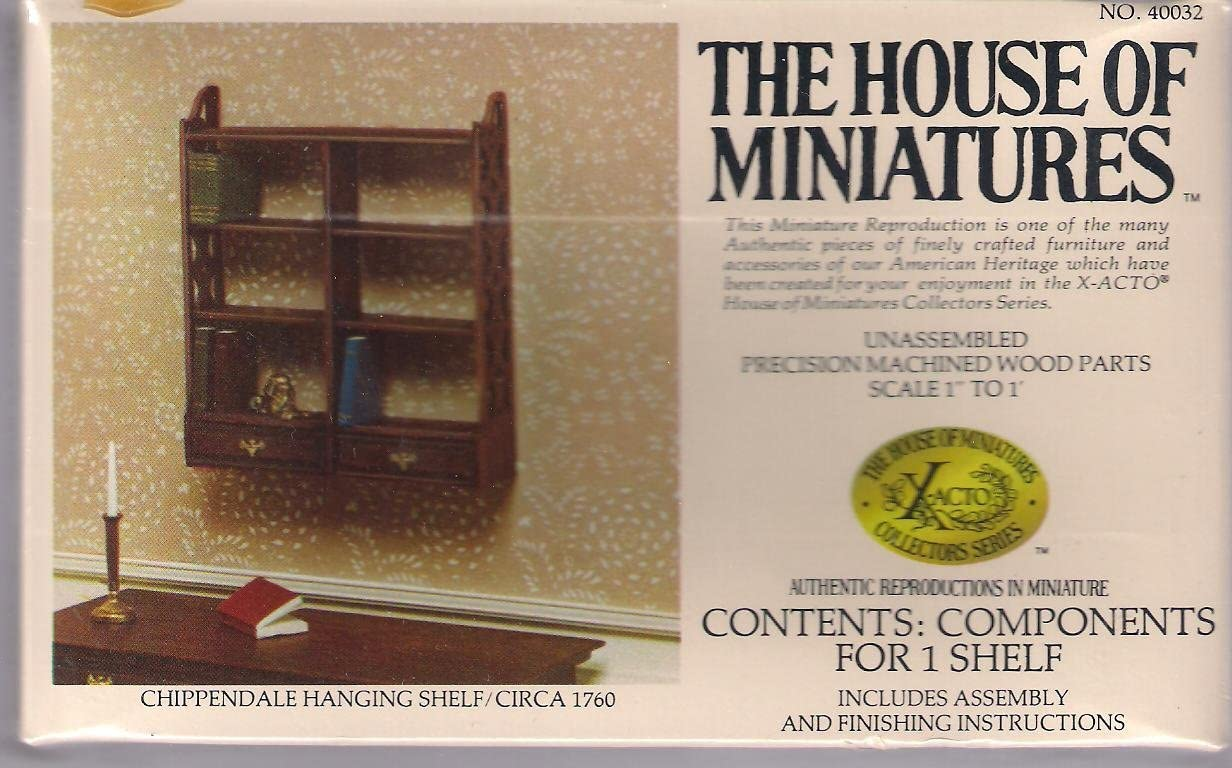 Chippendale Hanging Shelf Circa 1760 House of Miniatures Furniture Kit 40032