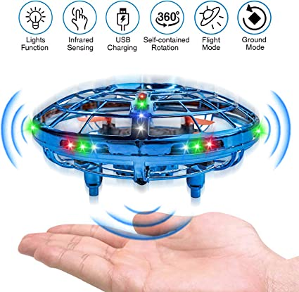 Amazon.com: UFO Drones,Hand-Operated Flying Toys with 360 Degree Rotating  Flying Drone with 2 Game Modes Rechargeable Mini Drone for Boys & Girls  Blue: Toys & Games
