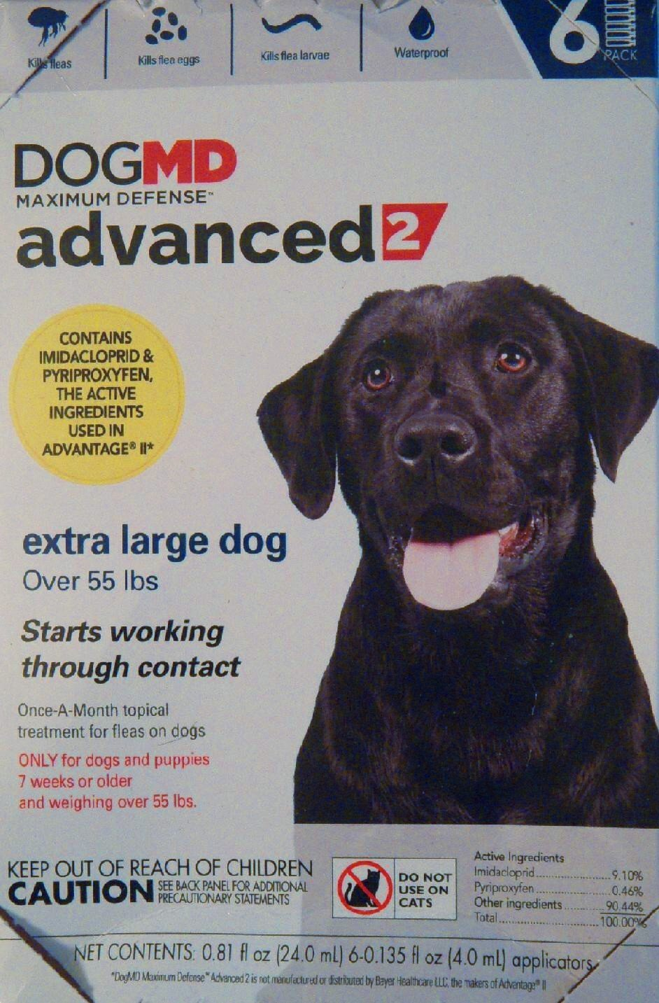 Dog MD, Maximum Defense Over 55 lbs Advance 2 Flea Medicine