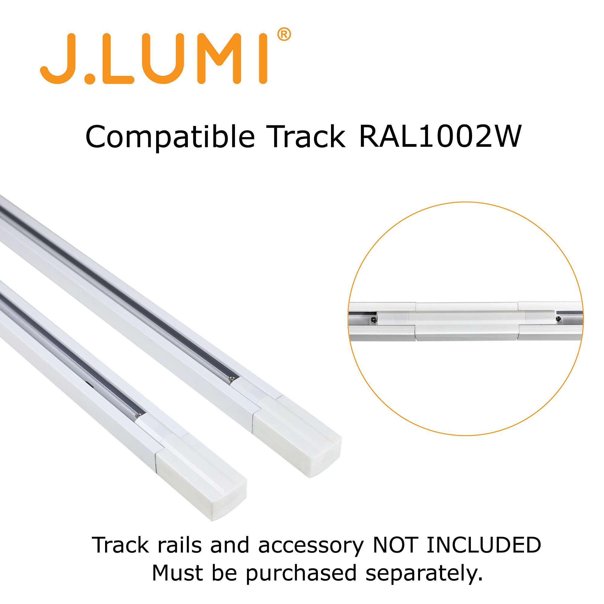 J.LUMI TRK9600W LED Track Light Fixture, Includes LED 5W Bulb | Vintage Mini Spotlight | Adjustable Tilt Angle, White Paint Finish | Compatible Rail RAL1002W (not Included) by J.LUMI (Image #5)