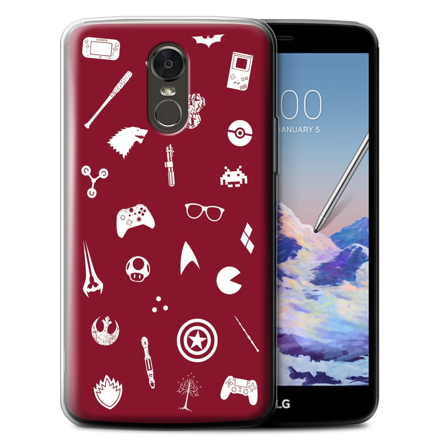 Phone Case for LG Stylus 3/Stylo 3/K10 Pro Geek Nerdy Gamer Fan Inner Geek/Stickers Design Transparent Clear Ultra Soft Flexi Silicone Gel/TPU Bumper Cover