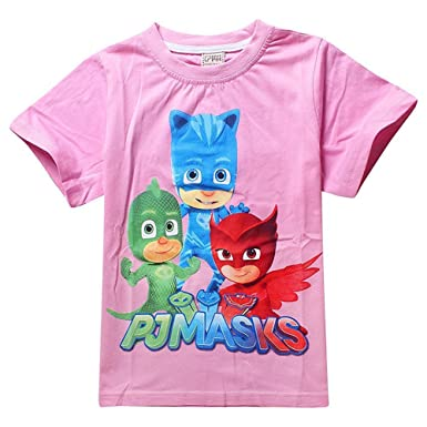 Owone Box Baby Kids PJ Masks Cotton Short Sleeve T Shirt Birthday Gift