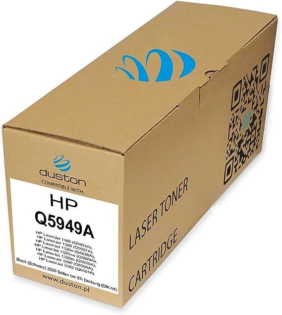 Q5949a 49a Schwarz Duston Toner Kompatibel Zu Laserjet 1160 1320 1320 N 1320 Nw 1320 Tn 3390 3392 Bürobedarf Schreibwaren