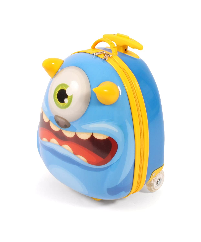 Bayer Chic 2000 Bouncie Kinder-Trolley mit 3D-Monster-Motiv Equipaje Infantil, 40 cm, 20 Liters, Azul (Blau): Amazon.es: Equipaje
