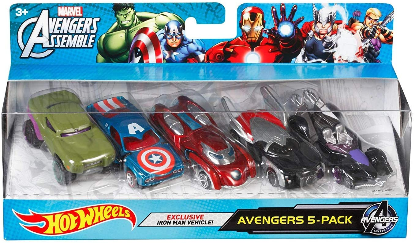 Hot Wheels Marvel Avengers Die-Cast Vehicle (5-Pack) by Hot Wheels: Amazon.es: Juguetes y juegos