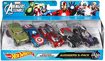 Hot Wheels Marvel Avengers Die-Cast Vehicle (5-Pack) by Hot ...
