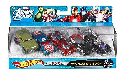 633ccbafc9 Amazon.com: Hot Wheels Marvel Avengers Assemble Avengers 5-Pack ...