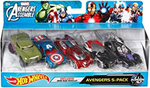 Hot Wheels Marvel Avengers Die-Cast Vehicle (5-Pack) by Hot Wheels ...