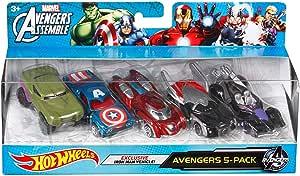Hot Wheels Marvel Avengers Die-Cast Vehicle (5-Pack) by Hot Wheels ...