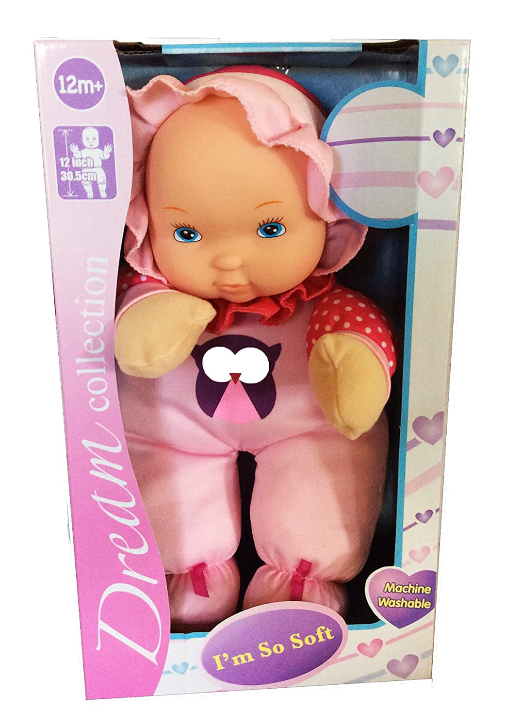 Pink /& Red with Owl Dream collection Im so Soft Machine Washable 12 inch Doll