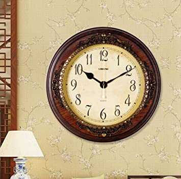 KYDJ Garten Schlafzimmer Mute Clock Quarzuhr Mode Ideen Home Clock Moderne  (Farbe: B)