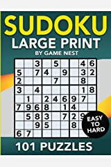 Sudoku Large Print 101 Puzzles Easy to Hard: One Puzzle Per Page - Easy, Medium, and Hard Large Print Puzzle Book For Adults (Puzzles & Games for Adults) Paperback