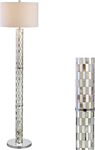 JONATHAN Y JYL1057A Liam 63.5″ Seashell Mosaic LED Floor Lamp Coastal,Traditional