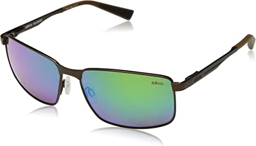 REVO Knox Sunglasses POLARIZED Brown//Green Water NEW RE1047-02