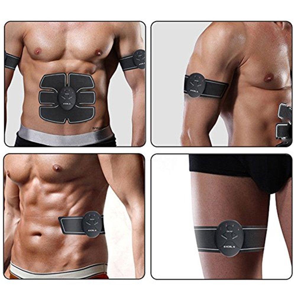 Muskel Trainer EMS-Training Muskelaufbau Fettverbrennungn Massage Home Fitness Machine Elektroden Pads zu Hause Elektrostimulation Muskelaufbau Muskelstimulation Fitness Ger/äte Bauchmuskeln