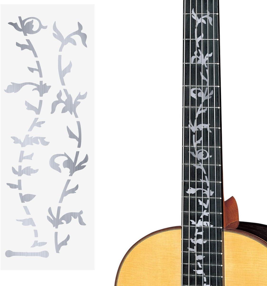 ULTNICE - Pegatina plateada para mástil de guitarra: Amazon.es ...