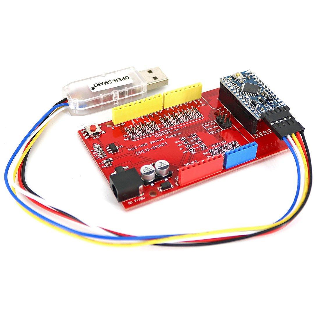 likecom Pro Mini Panera Kit con Io tarjeta de expansión sensor para Arduino: Amazon.es: Informática